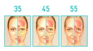 perte graisse du visage avec age